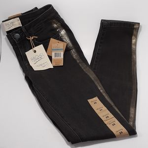 Rach Roy Skinny Jeans Ash Wash with Foil Stripe